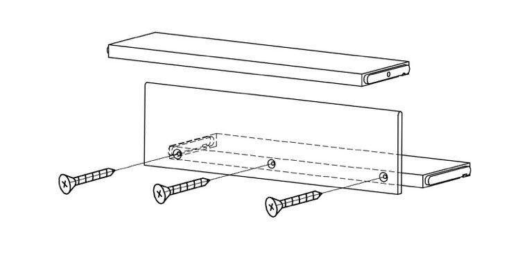 Skizze einer Holztreppenstufe